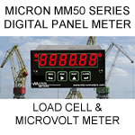 Micron Digital Panel Meter | Load Cell | Strain Gauge and Micro-volt