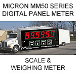 Micron Digital Panel Meter | Scale  Weighing Applications