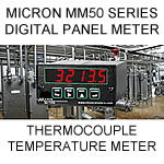 Micron Digital Panel Meter | Thermocouple Temperature and Control