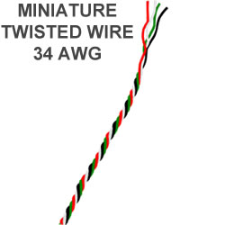 Miniature Twisted pair wires 34 AWG