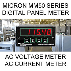 Micron Digital Panel Meter | AC Volts | AC Current