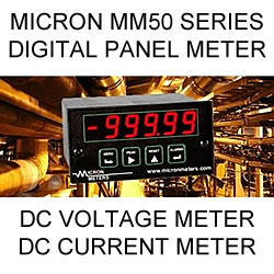 Micron Digital Panel Meter | DC Volts | DC Current
