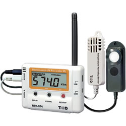 RTR-574-S Illuminance / UV Intensity / Temperature / Humidity Logger | Wireless | High Precision